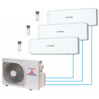Мультисплит система MITSUBISHI HEAVY Industries SRK20ZS-W*2 / SRK35ZS-W / SCM60ZM-S