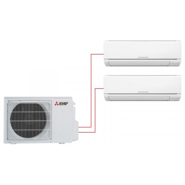 Мультисплит система MITSUBISHI ELECTRIC MSZ-HJ25VA-ER1 + MSZ-HJ35VA-ER1 / MXZ-2HJ40VA-ER1