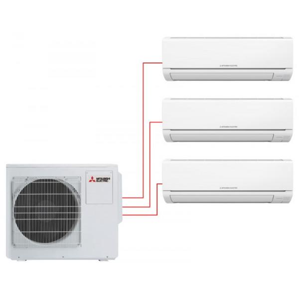 Мультисплит система MITSUBISHI ELECTRIC MSZ-HJ25VA-ER1×3 / MXZ-3HJ50VA-ER1