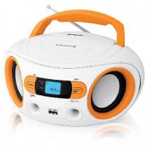 Аудиомагнитола BBK BS15BT белый/оранжевый