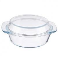 SATOSHI Кастрюля жаропрочная с крышкой, стекло, 23х20х9,5см, 1,4л 825-001