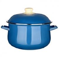 VETTA Глянец Кастрюля эмалированная, 24см, 5,0л, синий 894-469