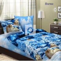 BRUNO КПБ 1,5-спальный Волки