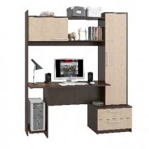 Мебель-Комплекс Стол компьютерный Денвер Исп.12 Дуб Млечный/Венге Цаво (3 пак)