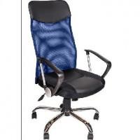 АЛВЕСТ Кресло AV 128 CH (682 SL) МК кз/TW-сетка/сетка односл 311/455/471 черн/черн/синяя
