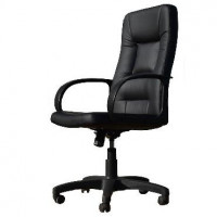 OFFICE-LAB кресло КР01 эко кожа черная / ЭКО1