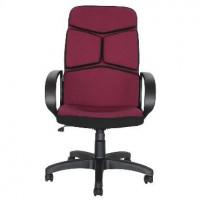 OFFICE-LAB кресло КР57 ткань бордо./черн. С20/С11