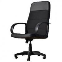 OFFICE-LAB кресло КР58 эко кожа черн./ ткань черная ЭКО1/С11