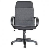 OFFICE-LAB кресло КР58 эко кожа черная / ткань серая ЭКО1/С1