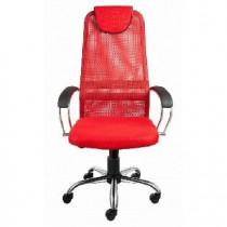 АЛВЕСТ Кресло AV 142 CH (142 CH) MK кз TW сетка, сетка однослойная 311/457/474 черная/красн/ярко кра