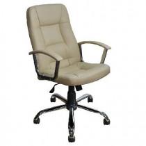 OFFICE-LAB кресло КР01 хром, эко кожа слон кост / ЭКО2