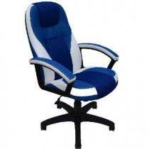 OFFICE-LAB Кресло КР08 центр TW синий./эко кожа синий/кант эко кожа белый (700)