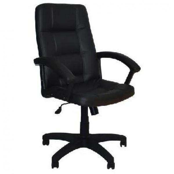 OFFICE-LAB кресло КР07 эко кожа черная / ЭКО1