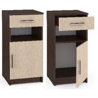 Мебель-Комплекс Тумба с ящиком и дверкой Агат ПР-Т2 Венге Цаво/Дуб Млечный (1 пак)