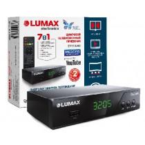 LUMAX DV3205HD DVB-T2/C/WiFi/КИНОЗАЛ LUMAX (500 фильмов)/MEGOGO/IPTV/Dolby Digital/дисплей, металл