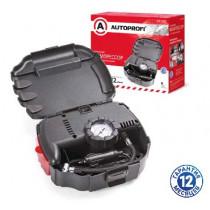 AUTOPROFI (AP-070) Компрессор пластиковый, в кейсе, 80 Вт, 12V, 12л/мин, сигнальный фонарь